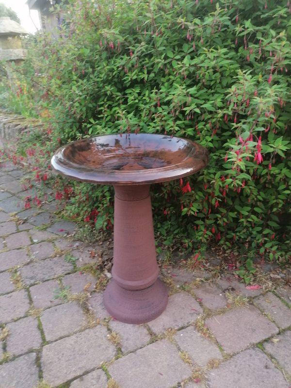 brown birdbath